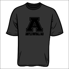 argyle football dad shirt