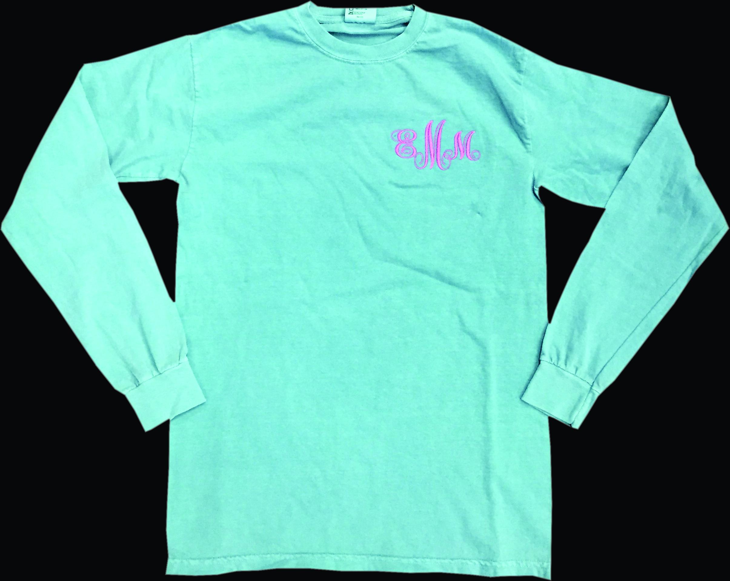 a99075a6 Short Sleeve Comfort Color Monogram T-shirt - FlipDog Sportswear