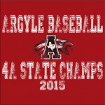 Argyle Baseball State Champion T-Shirts