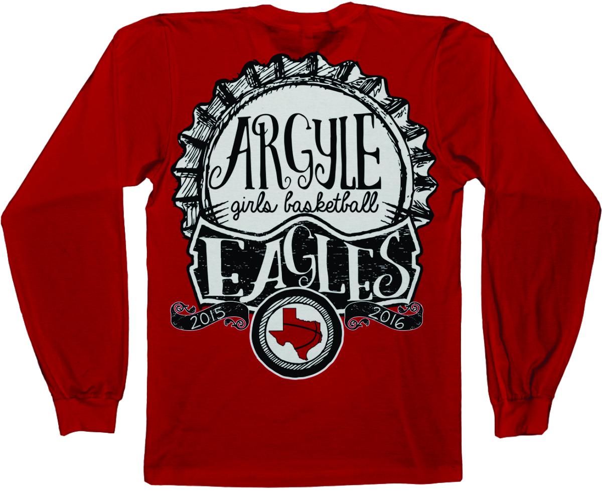 argyle middle school basketball sleeve t shirt