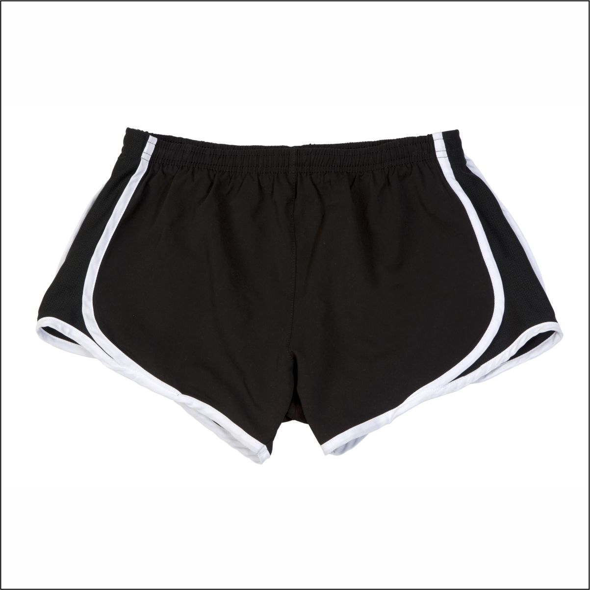 REQUIRED* Harwood Jr. High Black running shorts with white trim ...