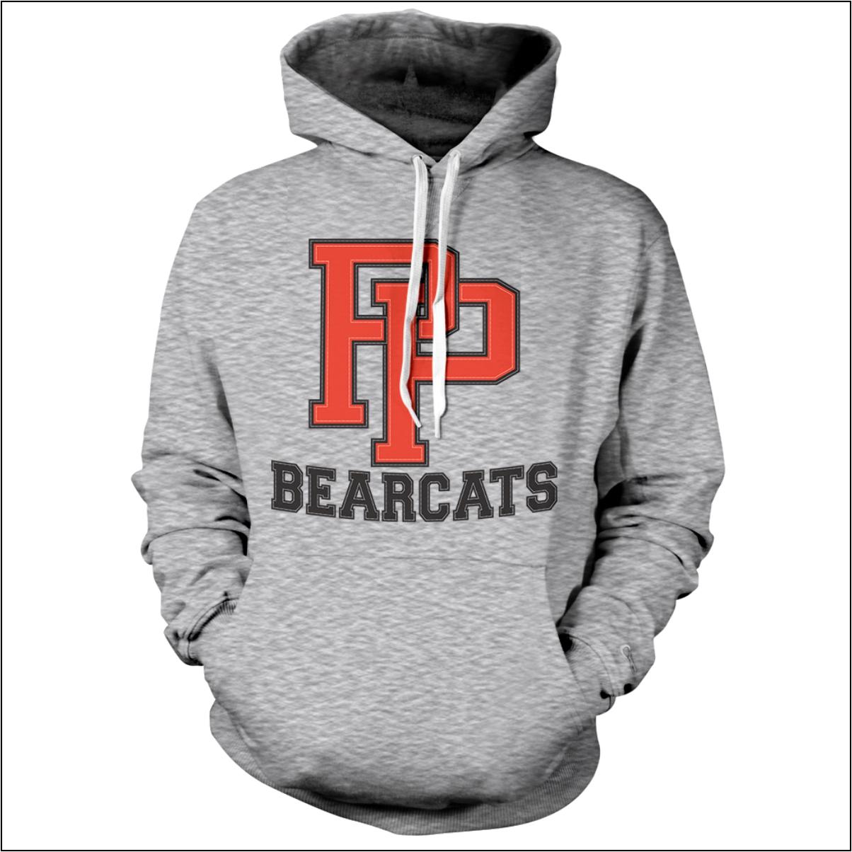 pilot point hoodie sewn felt lettering flipdog sportswear grey pp hoodie