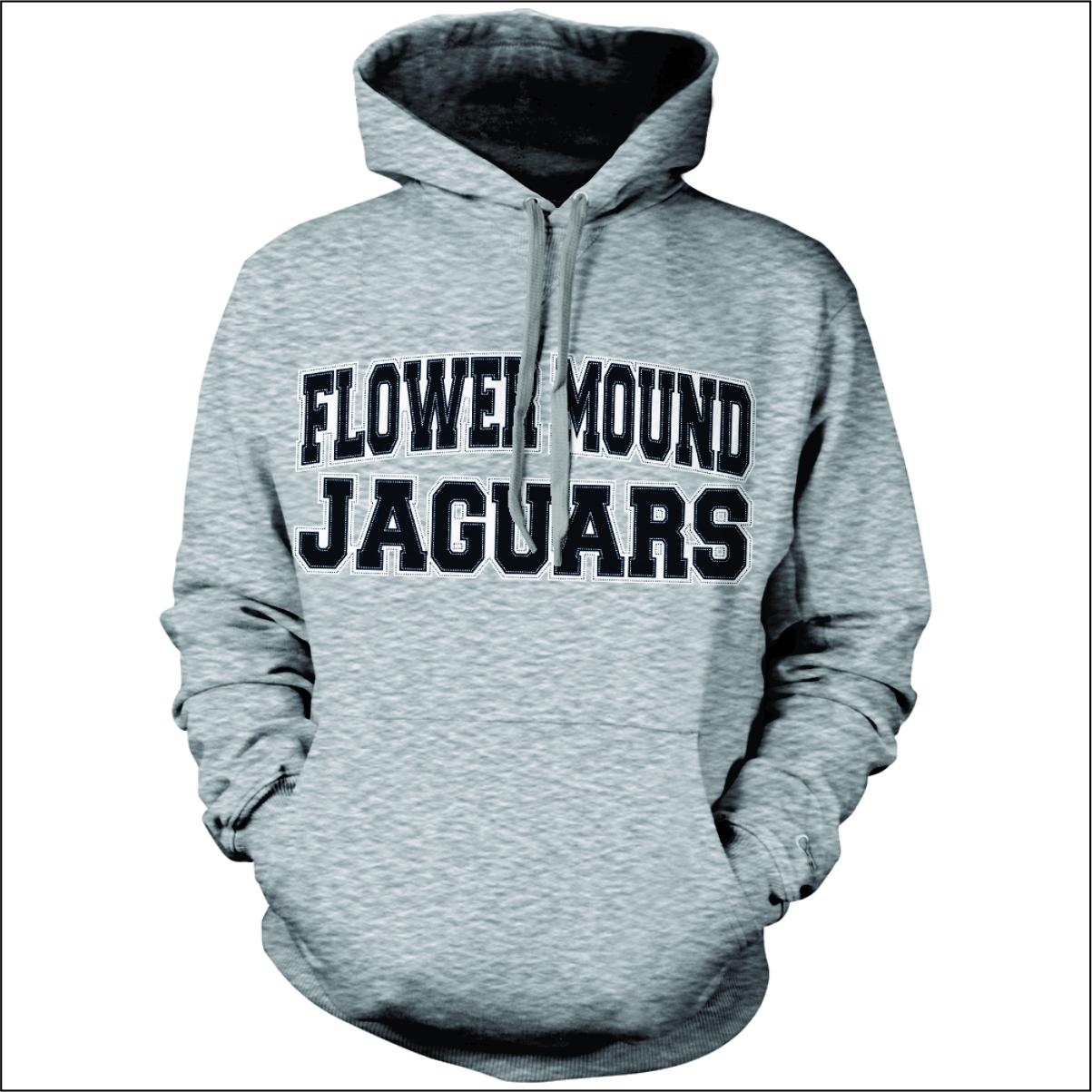 ddcab097 Flower Mound Sewn Letter Hoodie - FlipDog Sportswear